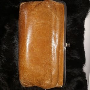 HOBO Distressed Leather Wallet